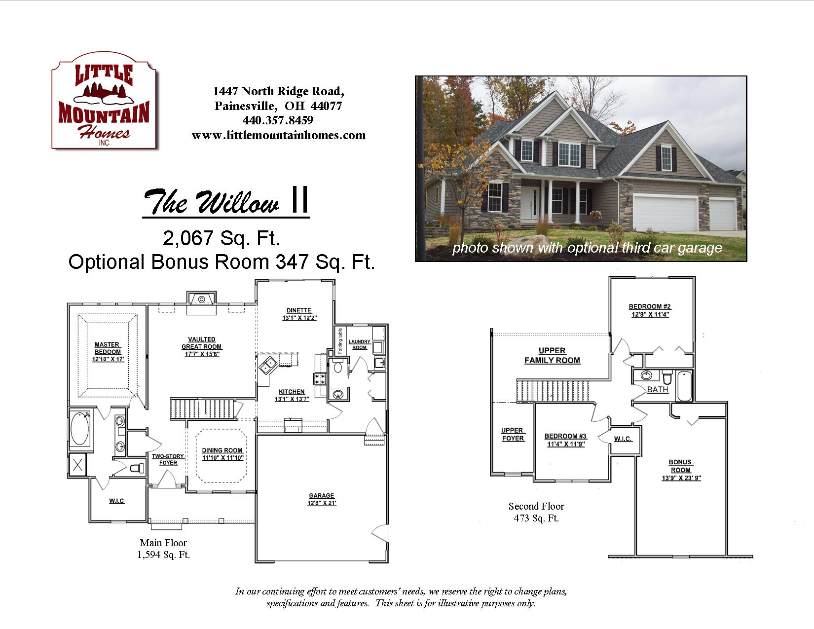 Willow II – First Floor Master | Little Mountain Homes